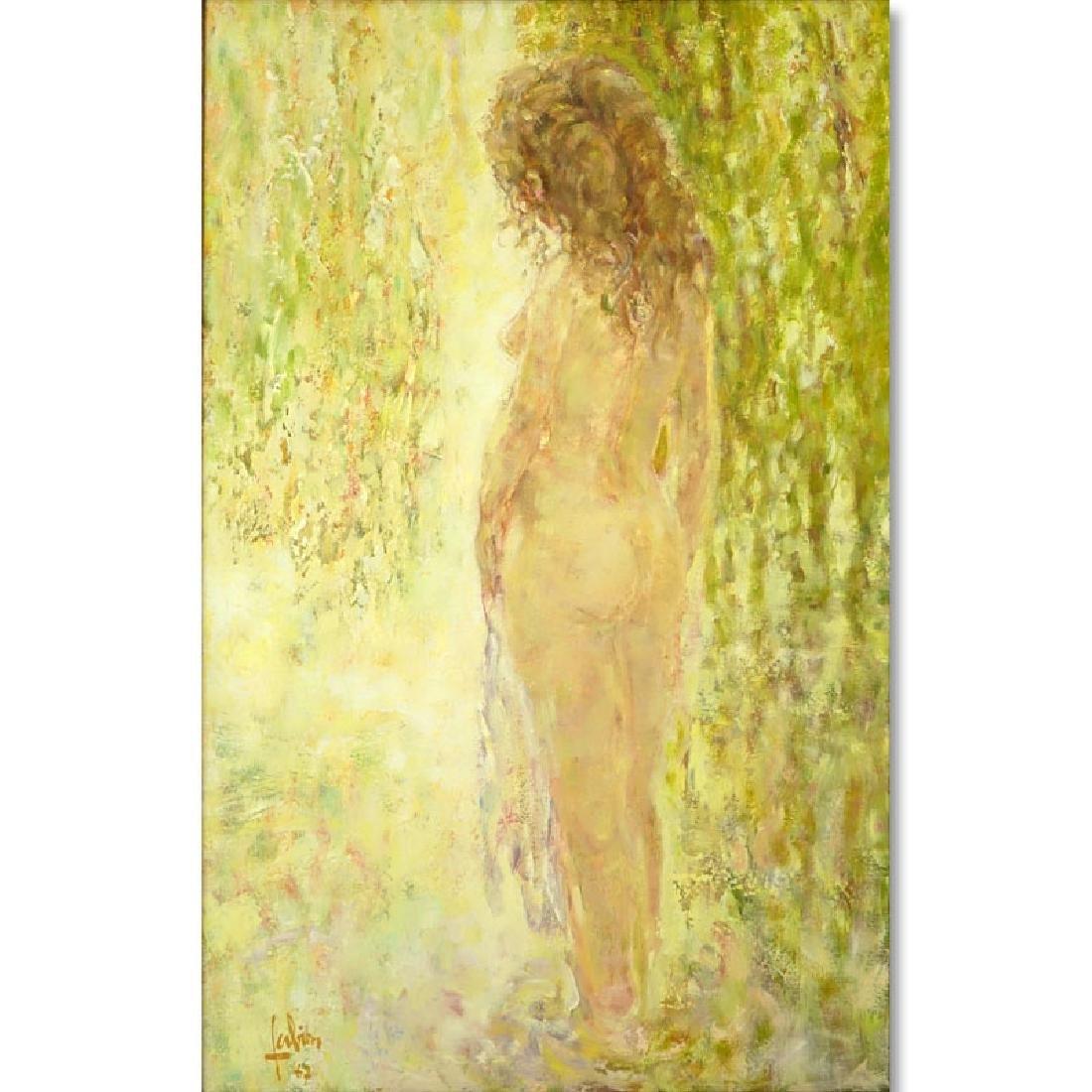 """Louis P Fabien, French (born 1924) Oil on Canvas """"Sous"""
