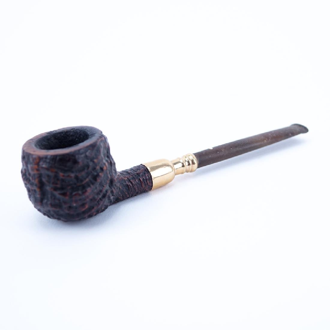 Dunhill Shell Briar Pipe with 14K Gold Spigot. Stamped