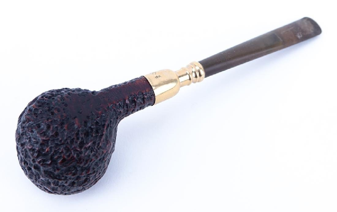 Dunhill Shell Briar Pipe with 14K Gold Spigot. Stamped - 3