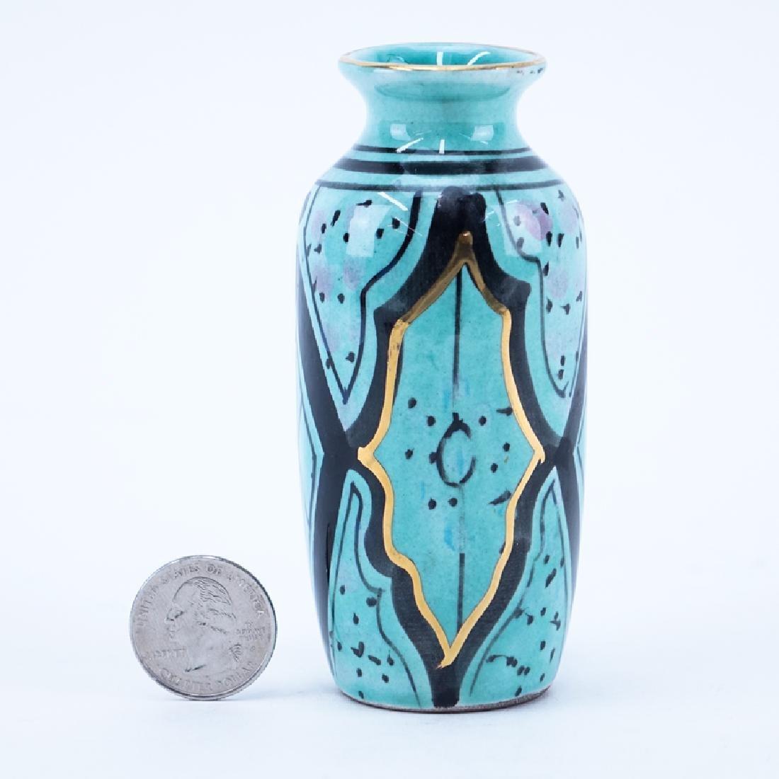 Art Deco Period Handpainted Ceramic Vase.