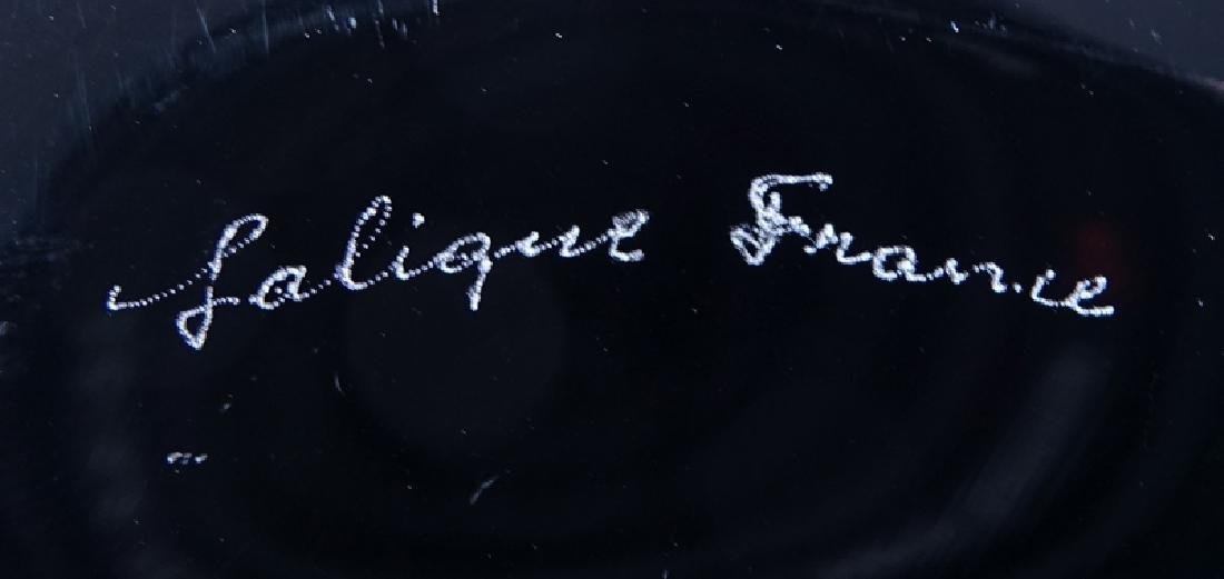 "Set of Six (6) Lalique ""Algues Noir"" Glass Plates. - 4"