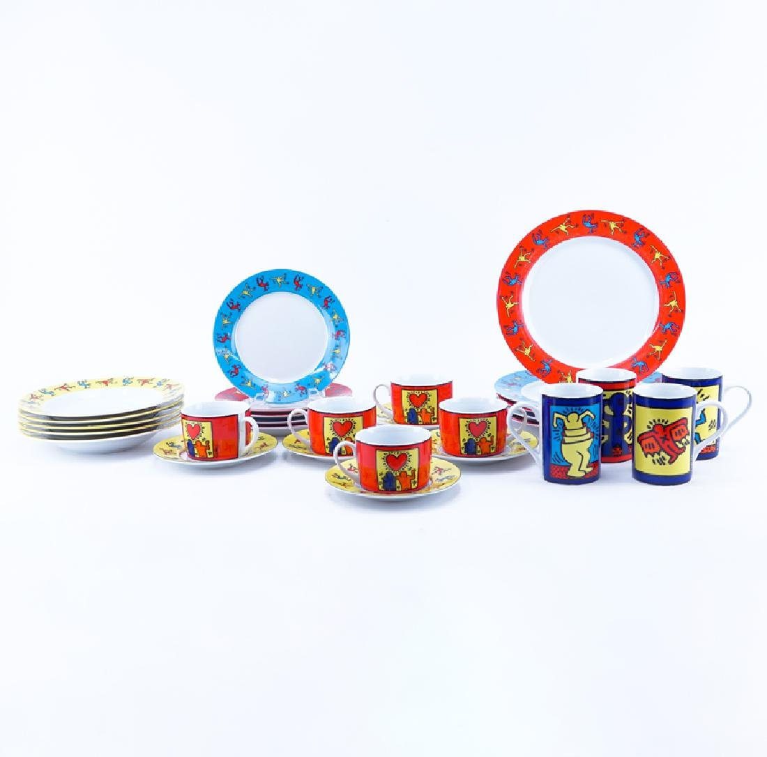 Twenty Nine (29) Pieces Keith Haring Porcelain