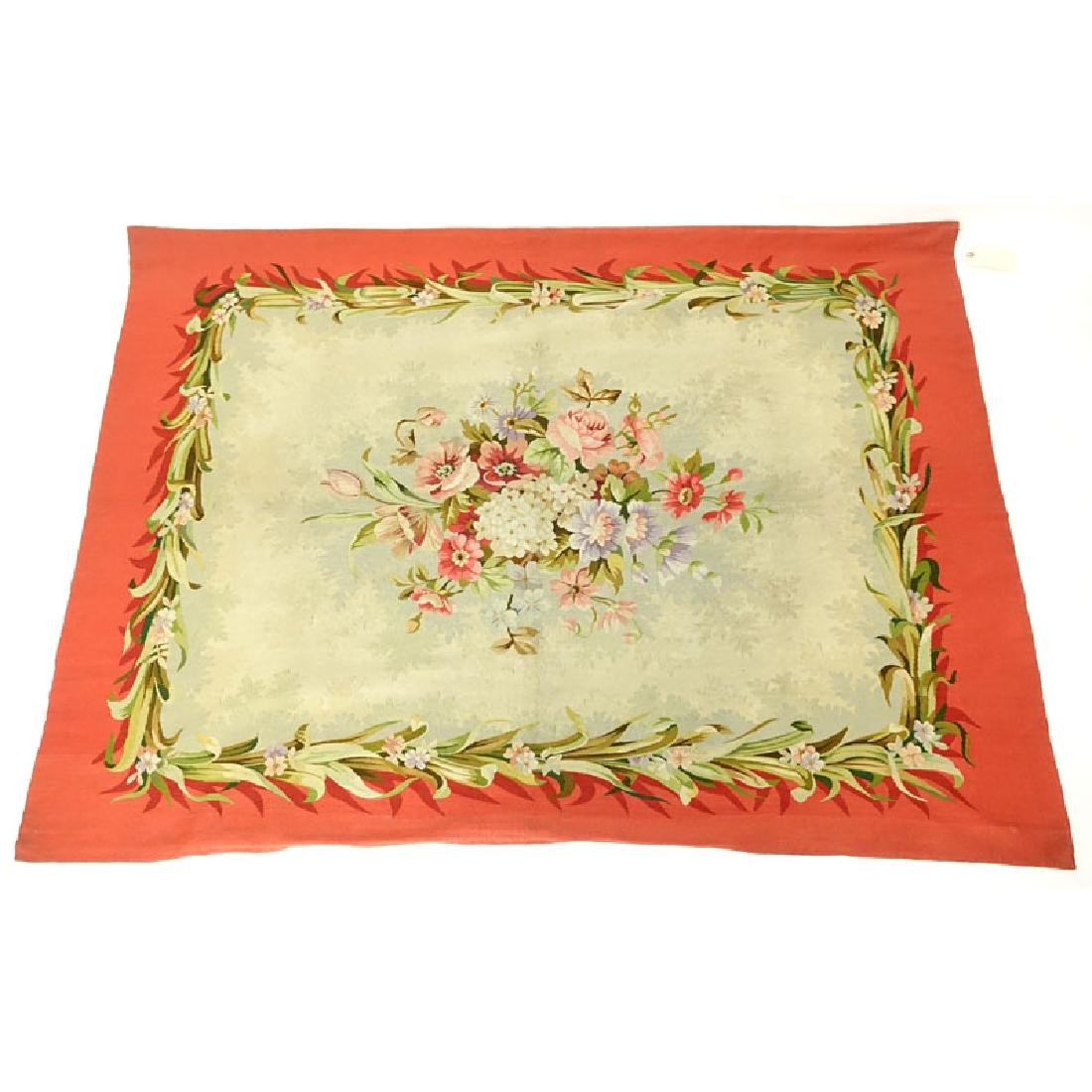 20th Century Aubusson Tapestry. Multi-colored floral