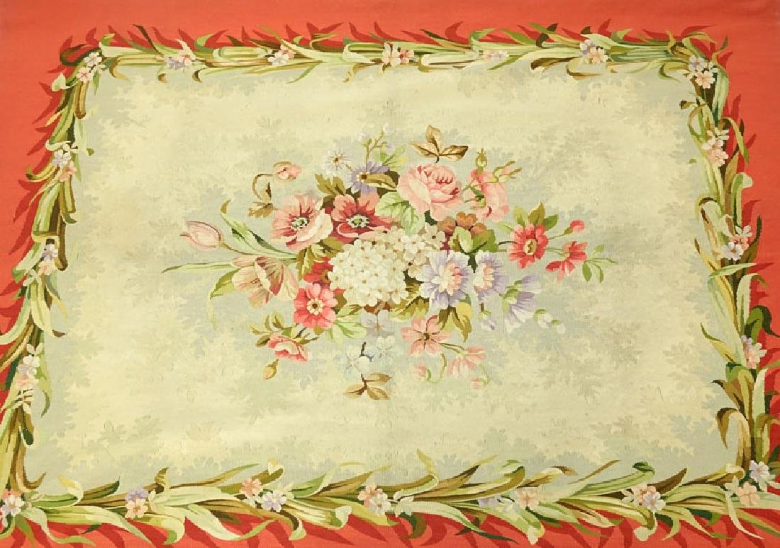 20th Century Aubusson Tapestry. Multi-colored floral - 2