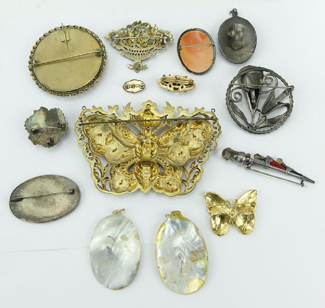 Lot of Thirteen (13) Vintage Costume Jewelry. Includes: - 5