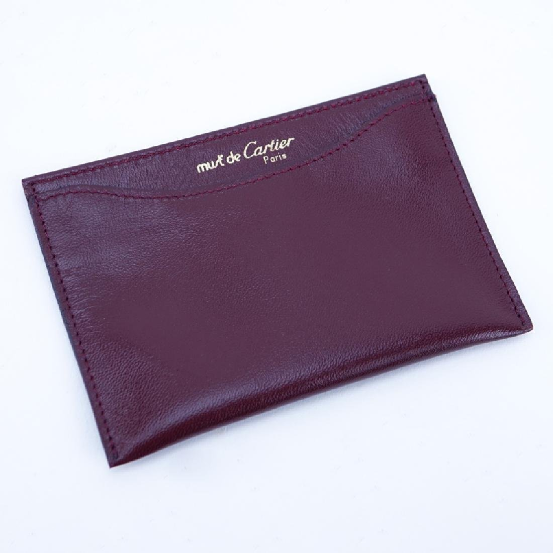 Cartier Brown Leather Card Holder. In original box.