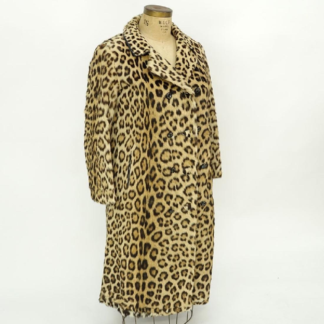 Vintage S. Schiffman Leopard Fur Coat. Fabric lining.