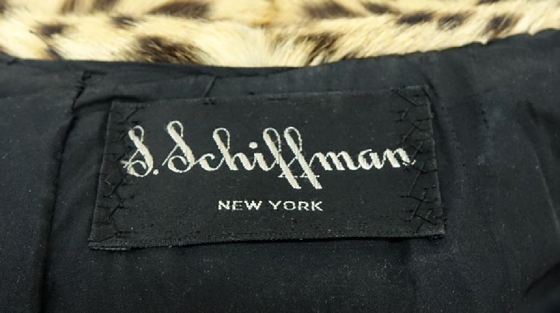 Vintage S. Schiffman Leopard Fur Coat. Fabric lining. - 4