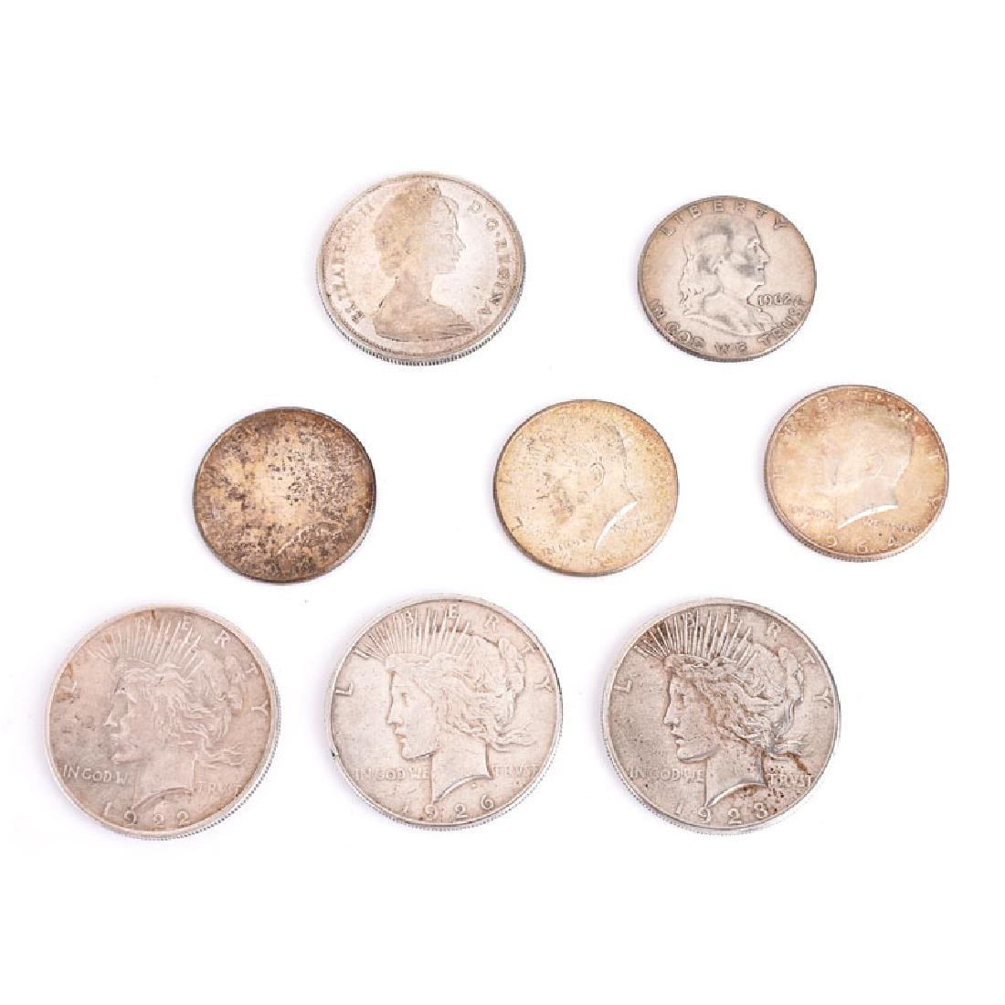 Collection of Eight (8) Silver Coins Including Three
