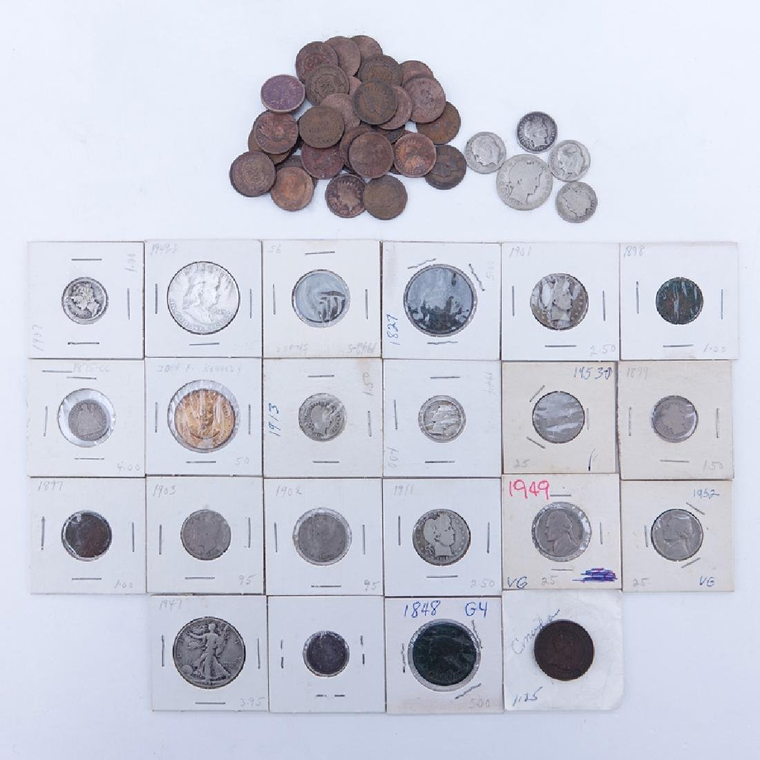 Collection of Mixed U.S. Coins. Includes: Quarter