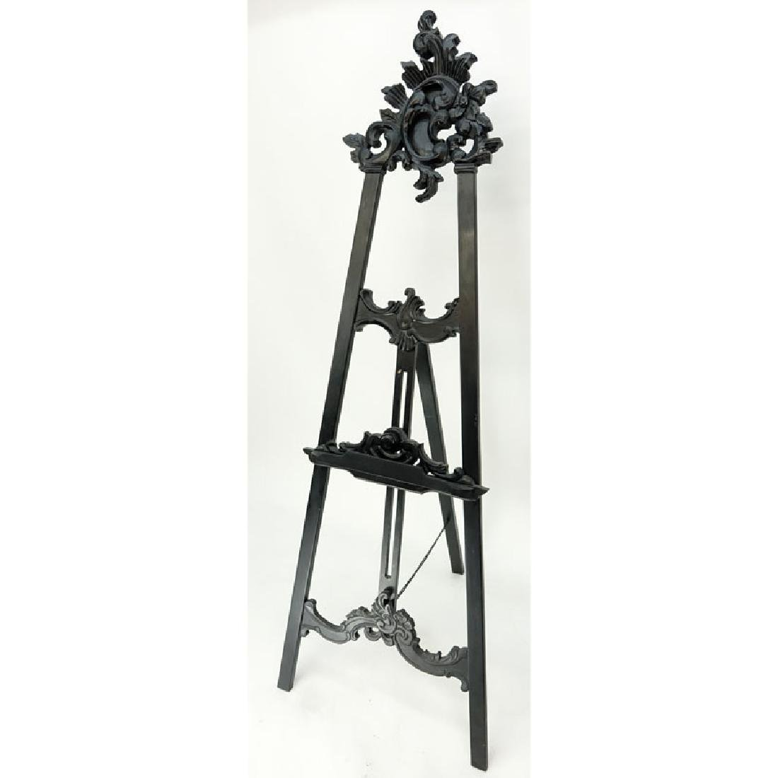 Large Carved Wood Easel. Typical scuffs and scratches