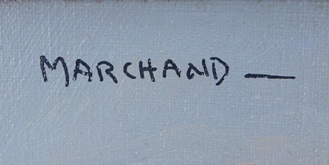 Marchand (20th C.) Oil on Board, Paris Street Scene, - 3