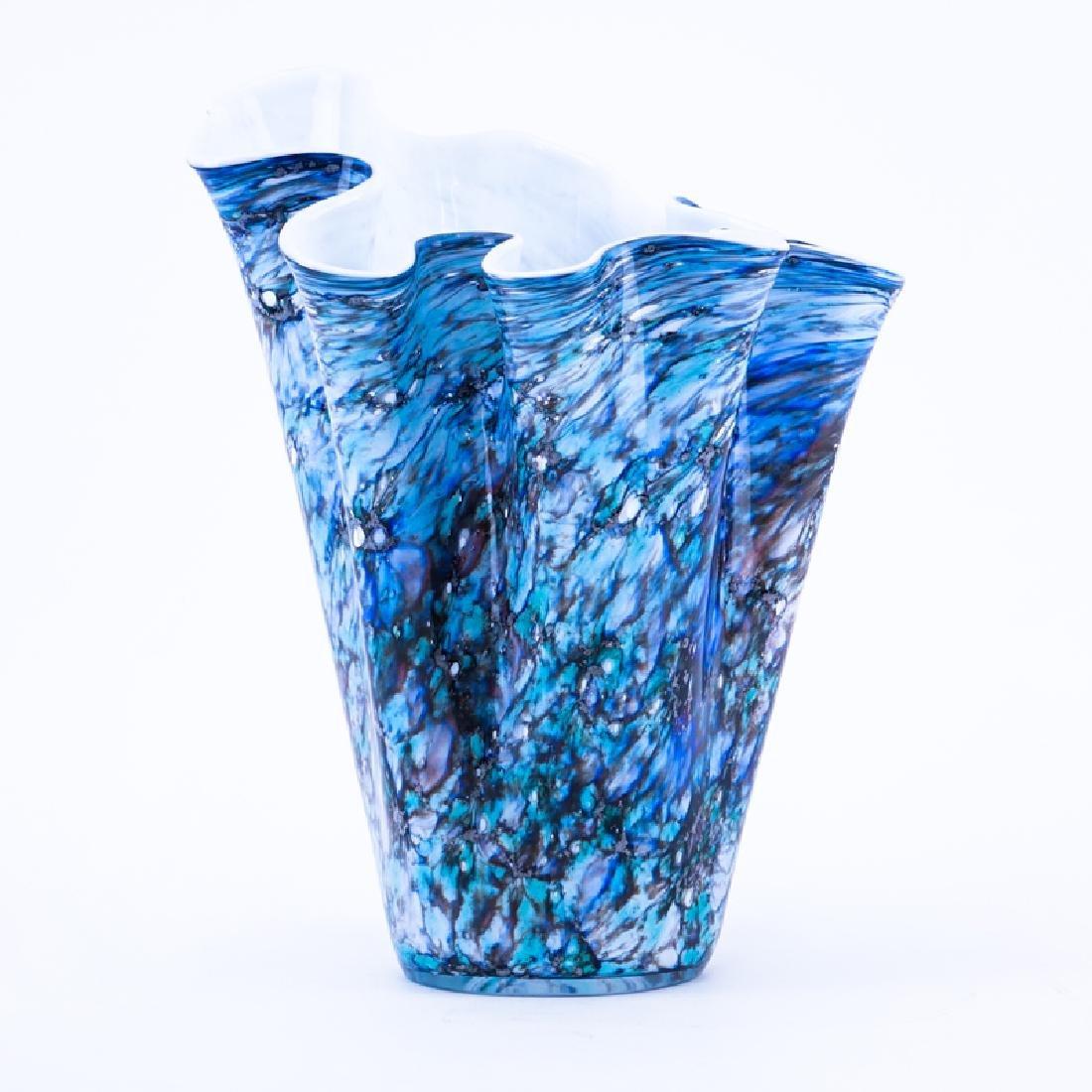 Mid Century Modern Art Glass Free Form Vase.