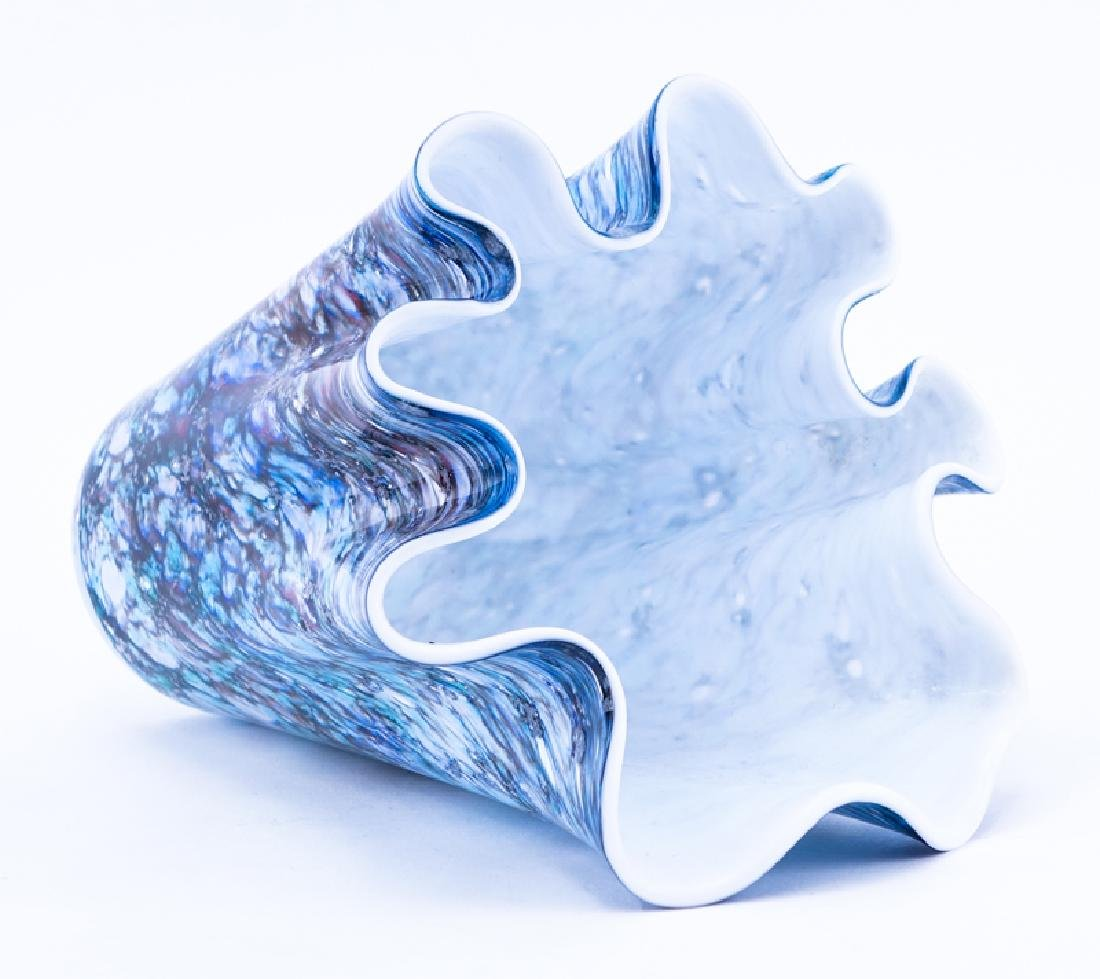 Mid Century Modern Art Glass Free Form Vase. - 2