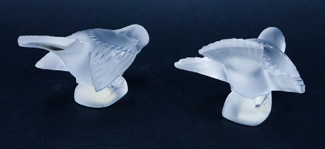 Two (2) Lalique Frosted Crystal Bird - 2