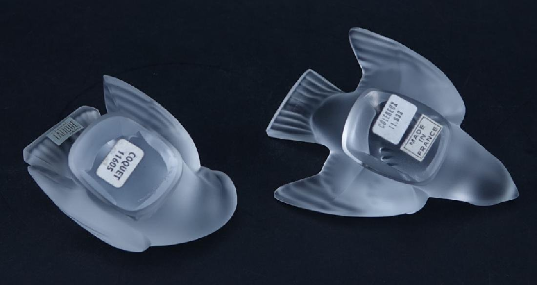Two (2) Lalique Frosted Crystal Bird - 3