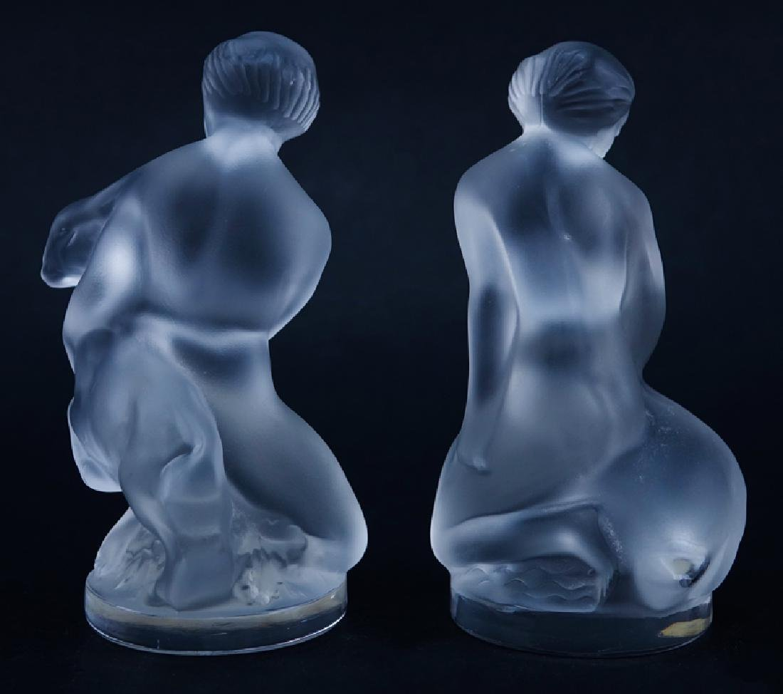 Two (2) Lalique Frosted Crystal Figurines/Paperweights - 2