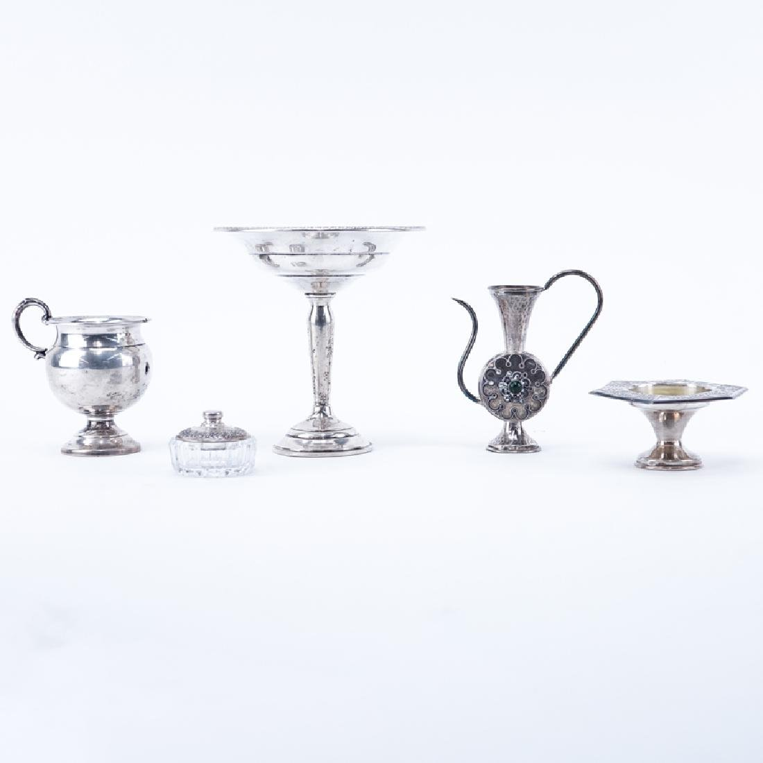 Group of Five (5): Israeli Sterling Miniature Tea Pot,
