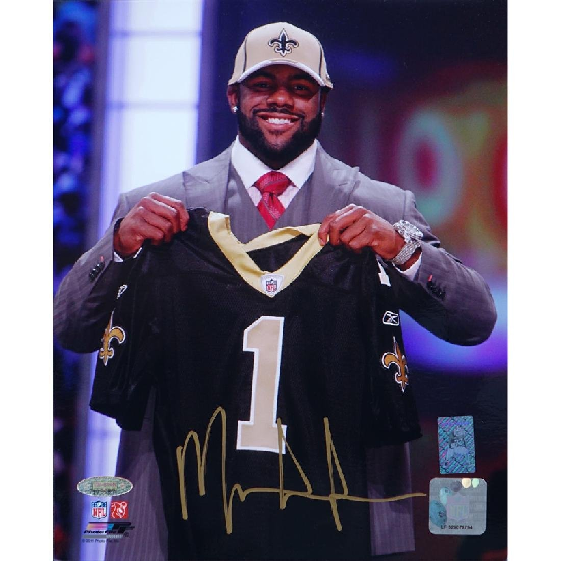 Hand Signed Mark Ingram NFL Draft 8 x 10 Photo.