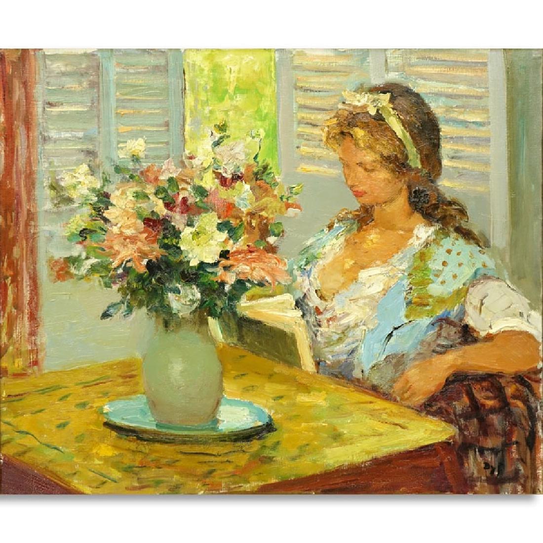 "Marcel Dyf, French (1899 - 1985) Oil on canvas "" Girl"