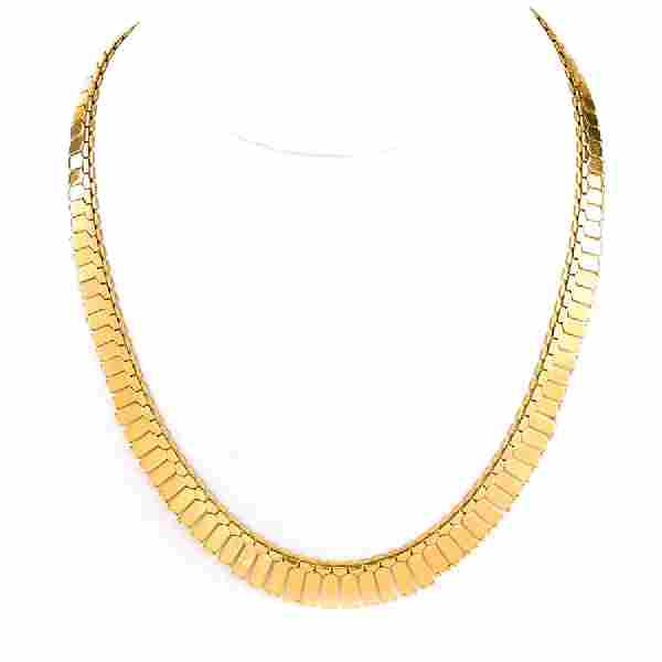 Vintage 14 Karat Yellow Gold Link Necklace. Numbered to