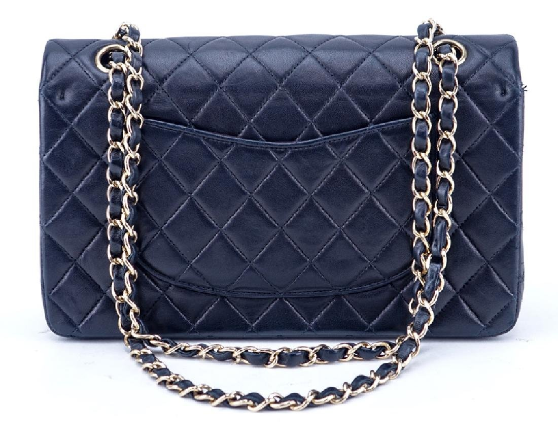 Chanel Black Quilted Leather Classic Double Flap Bag - 2