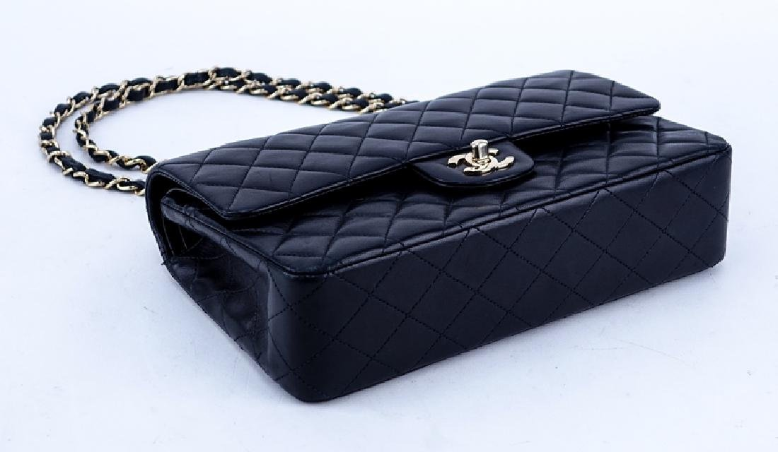 Chanel Black Quilted Leather Classic Double Flap Bag - 3