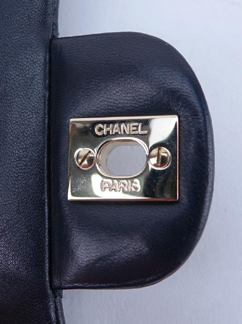 Chanel Black Quilted Leather Classic Double Flap Bag - 5