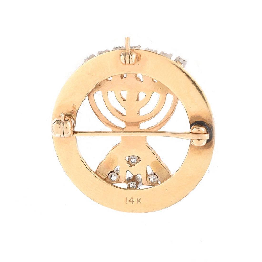 Three (3) Piece Vintage Judaica Jewelry Lot Including - 10