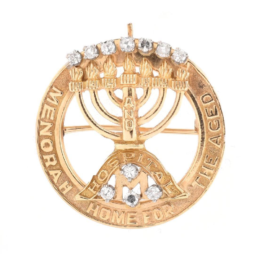 Three (3) Piece Vintage Judaica Jewelry Lot Including - 7