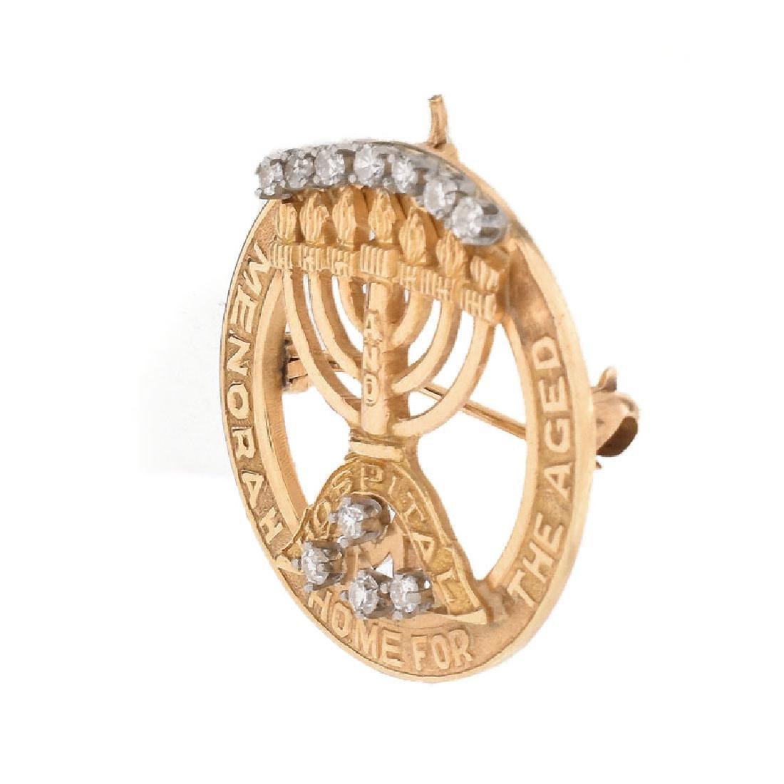 Three (3) Piece Vintage Judaica Jewelry Lot Including - 9