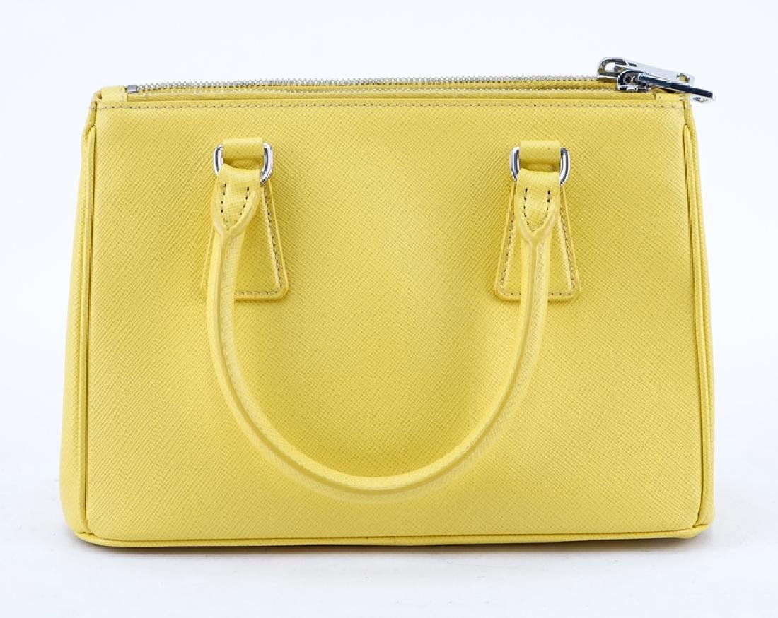 Prada Yellow Small Grained Leather Saffiano Lux - 2