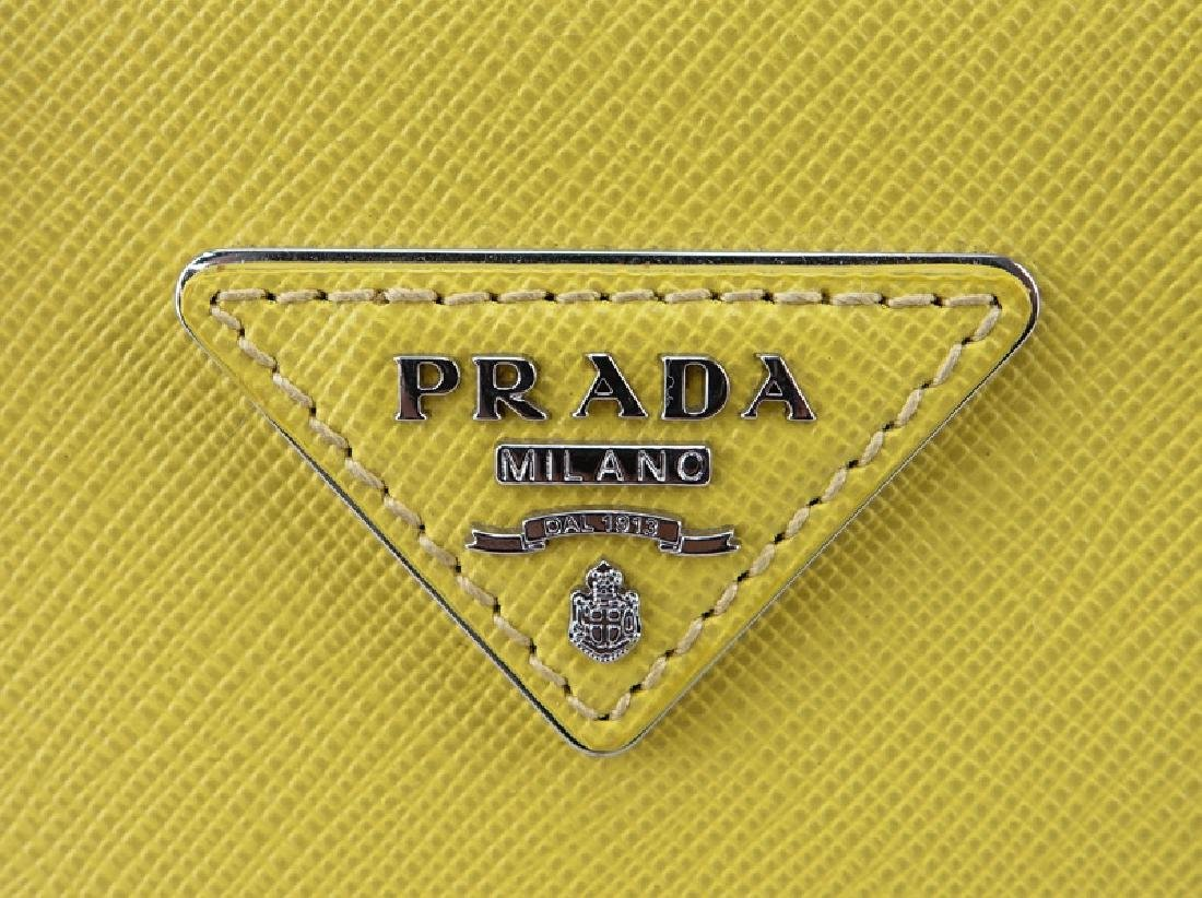 Prada Yellow Small Grained Leather Saffiano Lux - 4