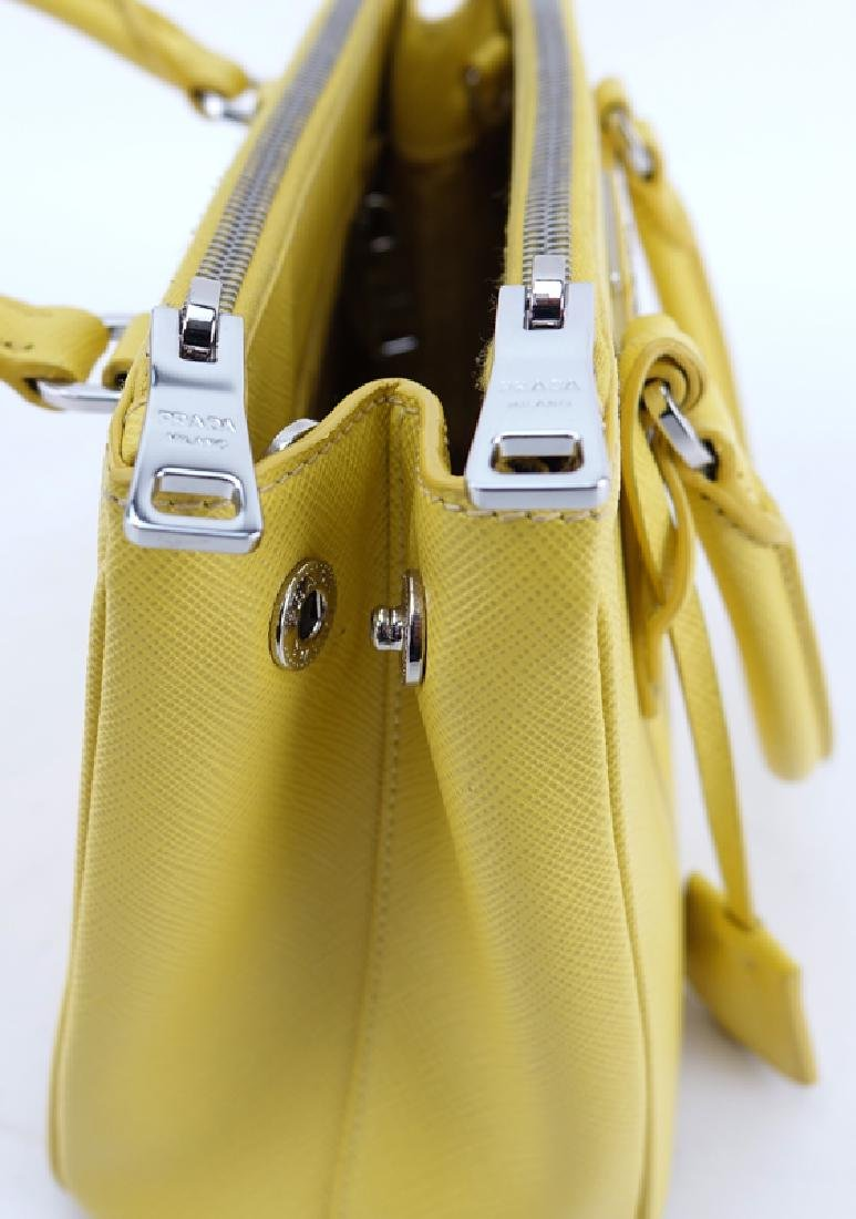 Prada Yellow Small Grained Leather Saffiano Lux - 5