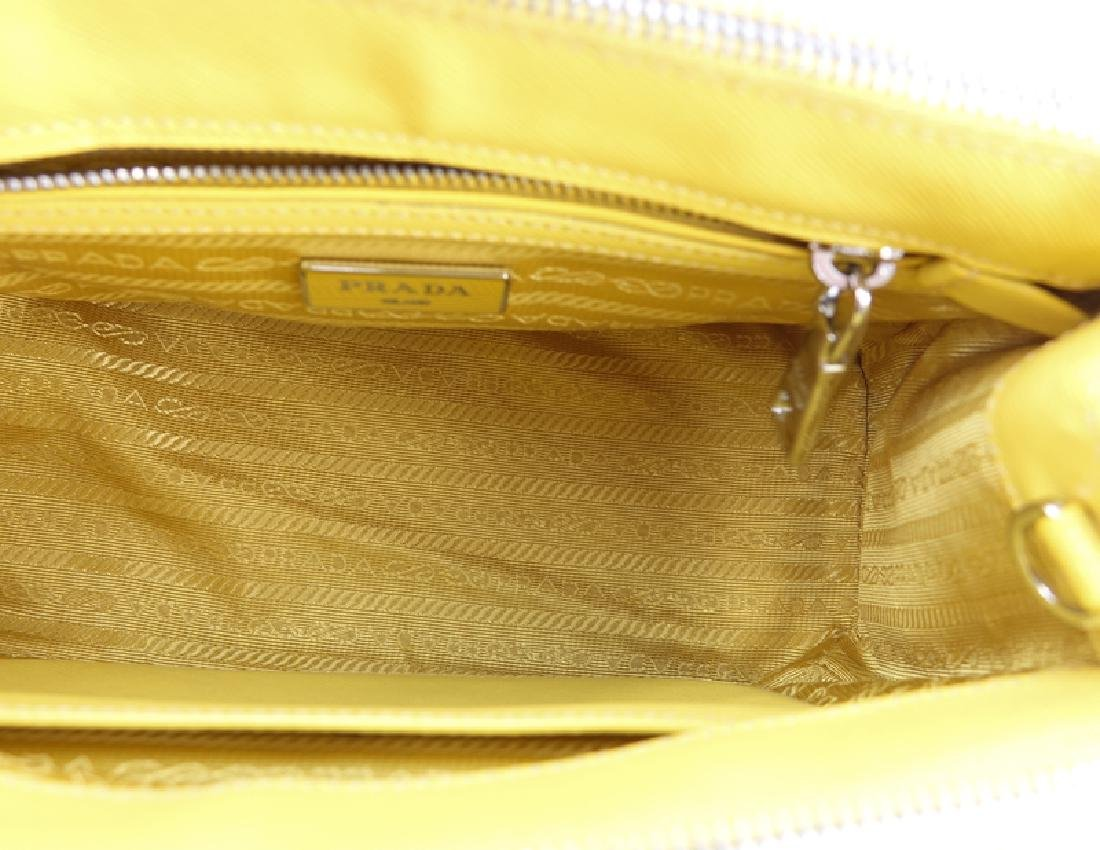 Prada Yellow Small Grained Leather Saffiano Lux - 6