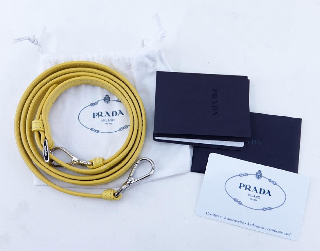 Prada Yellow Small Grained Leather Saffiano Lux - 8