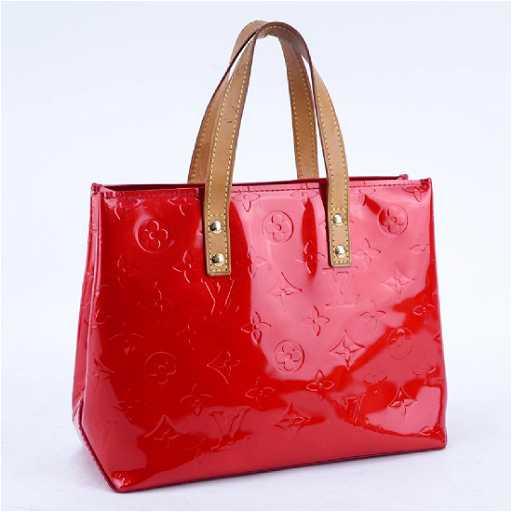 626711c23b679 Louis Vuitton Flashy Red Monogram Vernis Reade PM