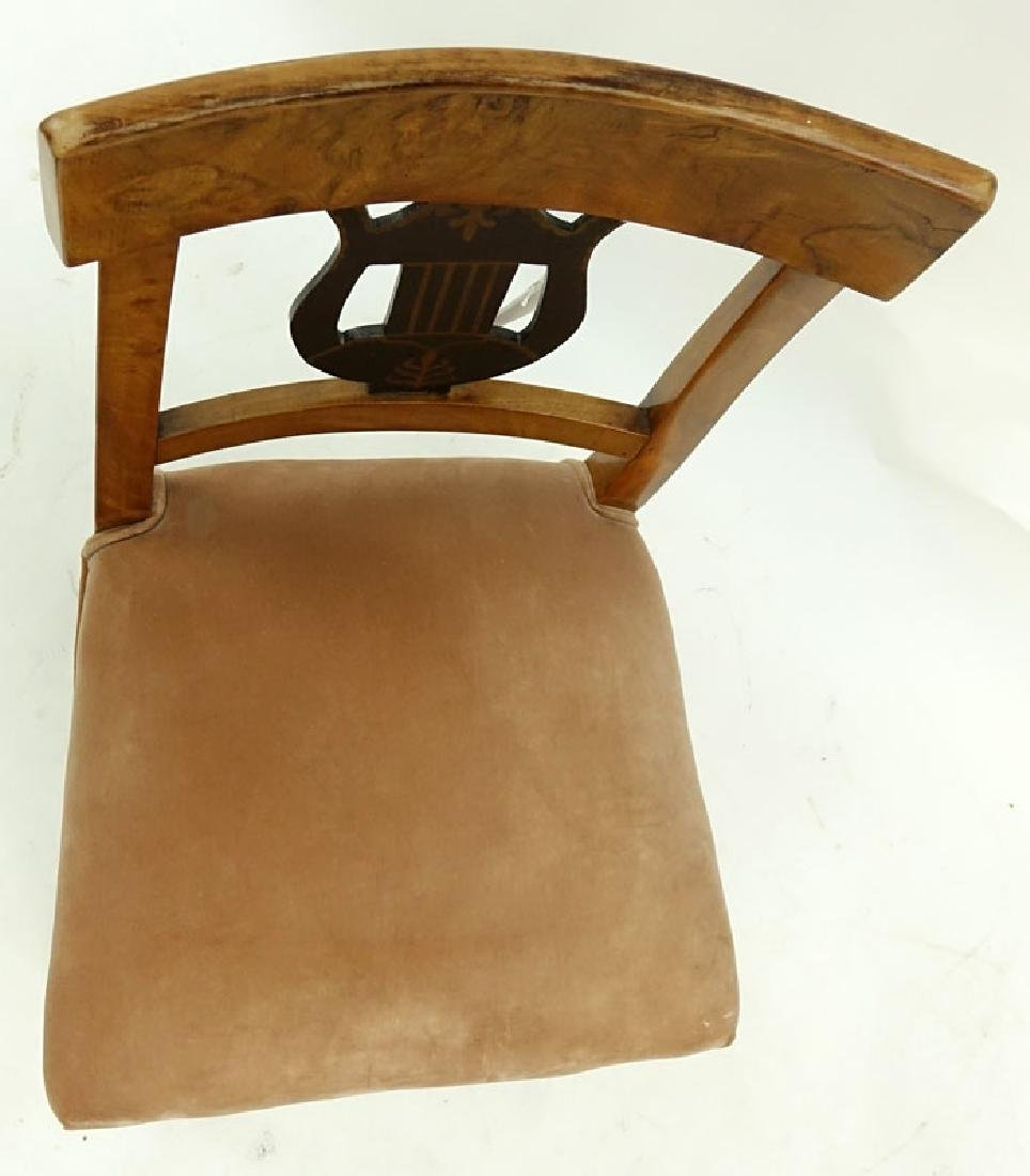 Antique Italian Burlwood Upholstered Side Chair. - 2