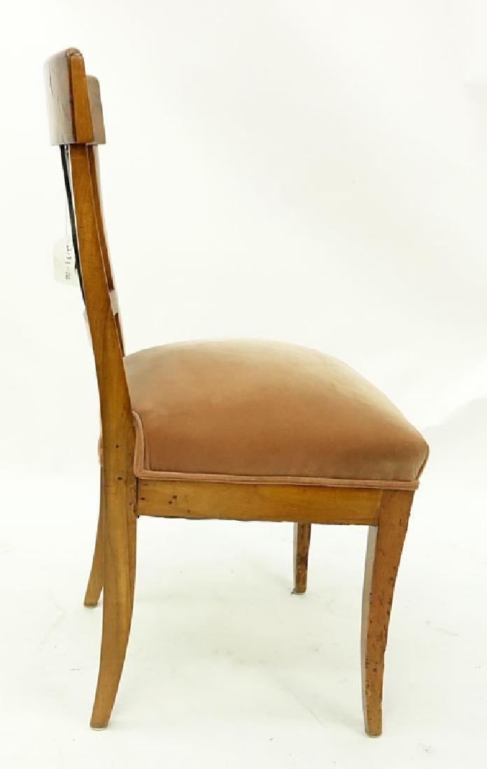 Antique Italian Burlwood Upholstered Side Chair. - 3