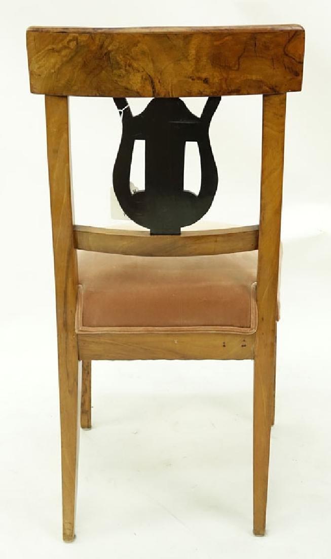 Antique Italian Burlwood Upholstered Side Chair. - 4
