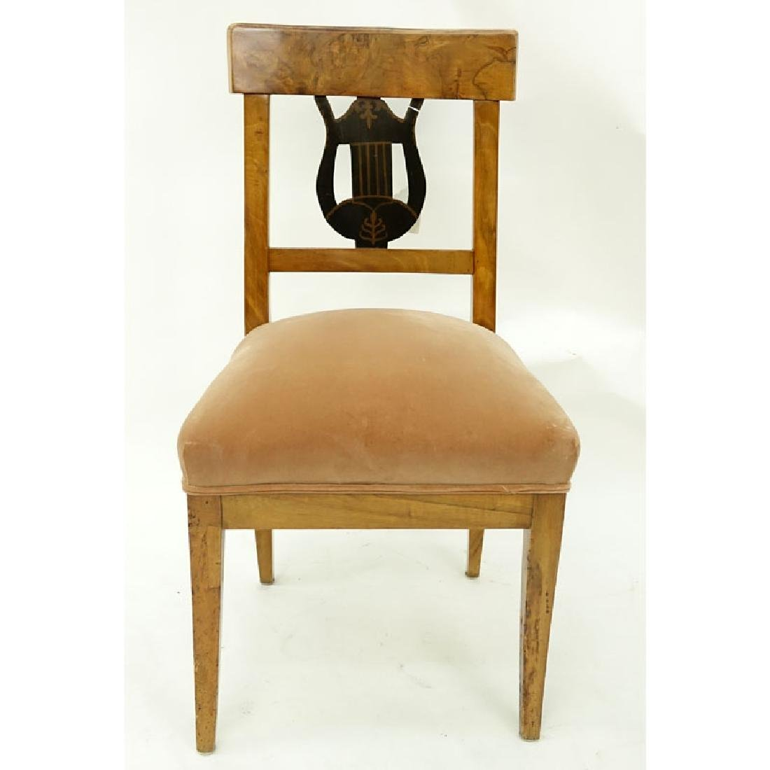 Antique Italian Burlwood Upholstered Side Chair. - 5