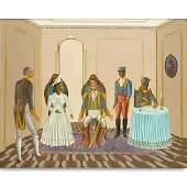 Serge Moleon Blaise, Haitian (born 1954) Oil on Canvas,
