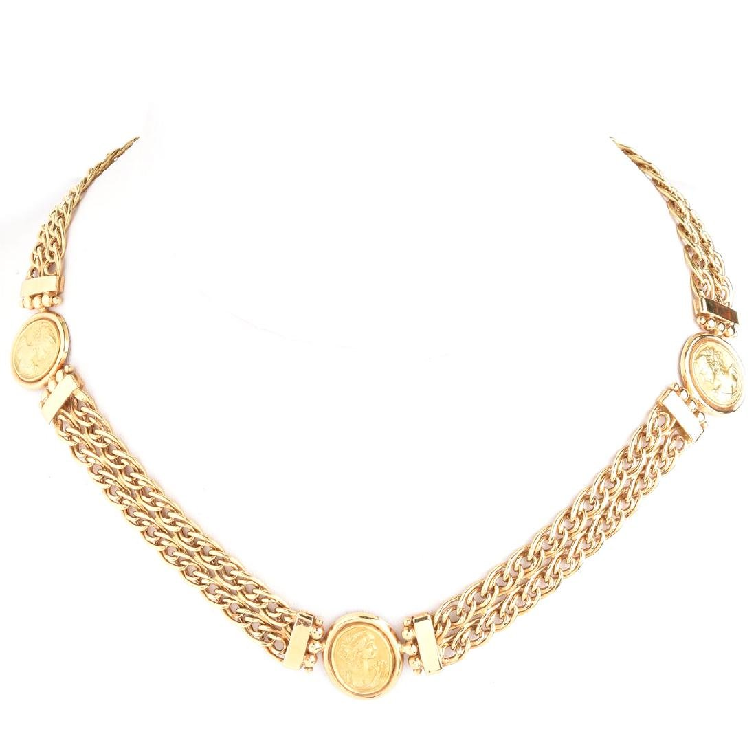 Vintage Italian 18 Karat Yellow Gold Necklace with