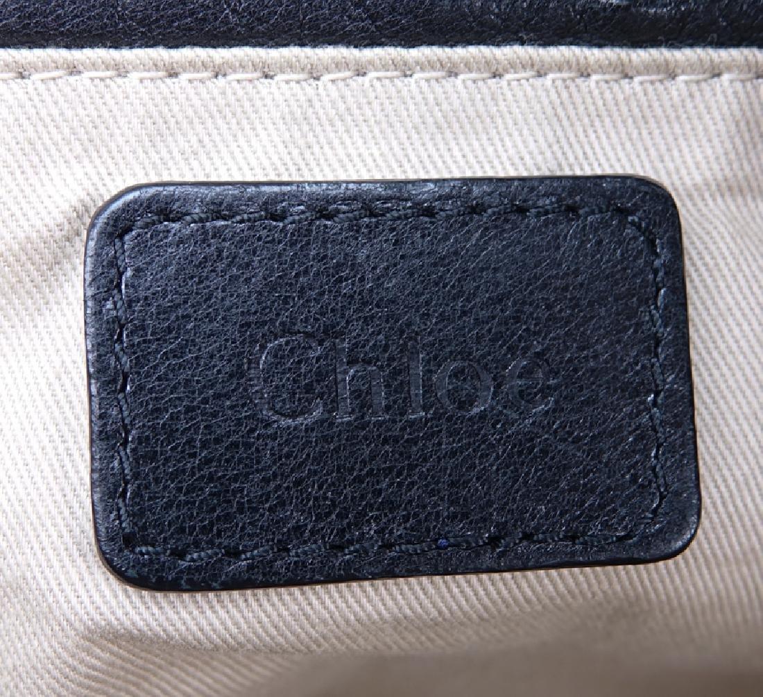 Chloe Black Smooth Studded Leather Marcie Shoulder Bag. - 4