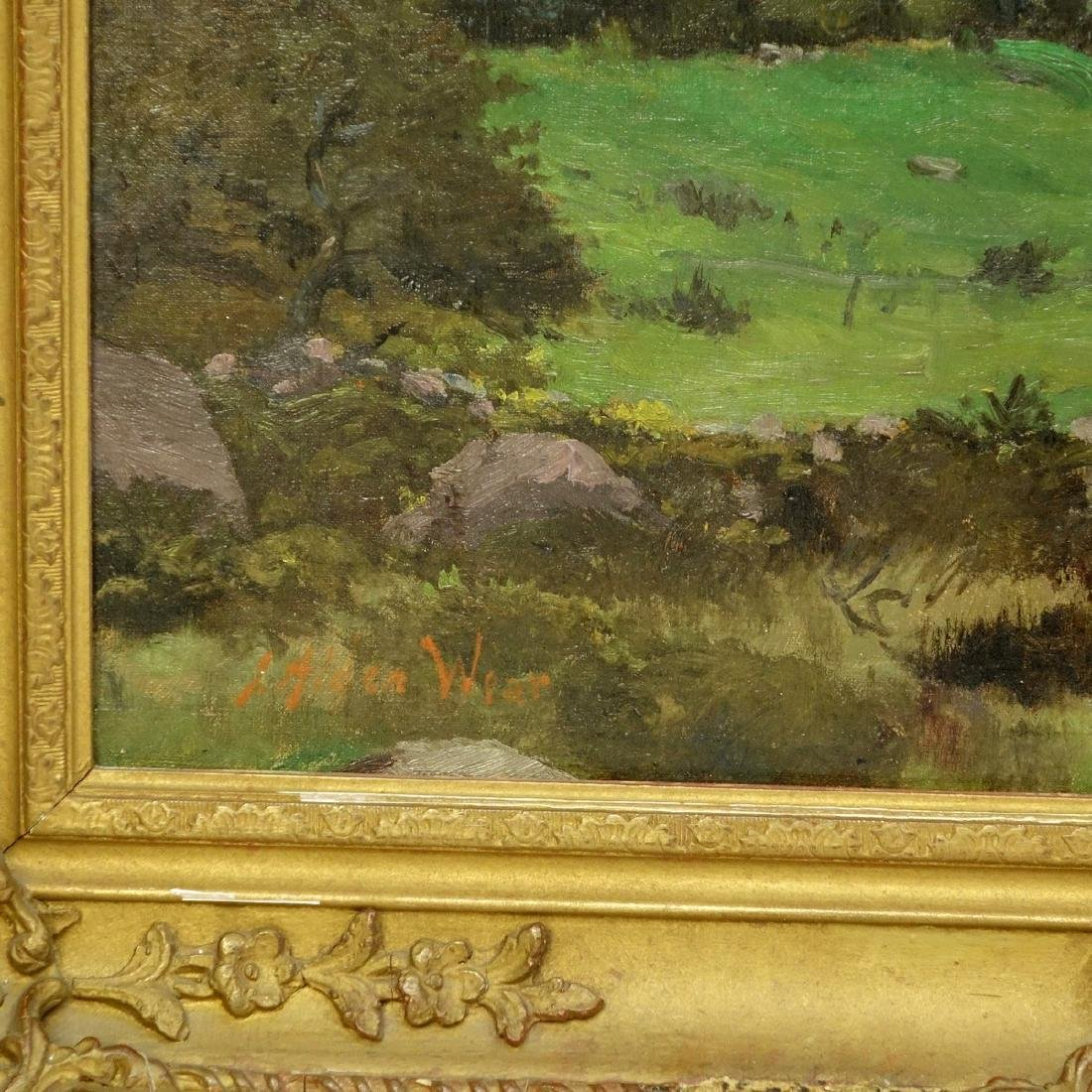 Antique Oil on Canvas, Pastoral Scene, Signed Lower J - 4