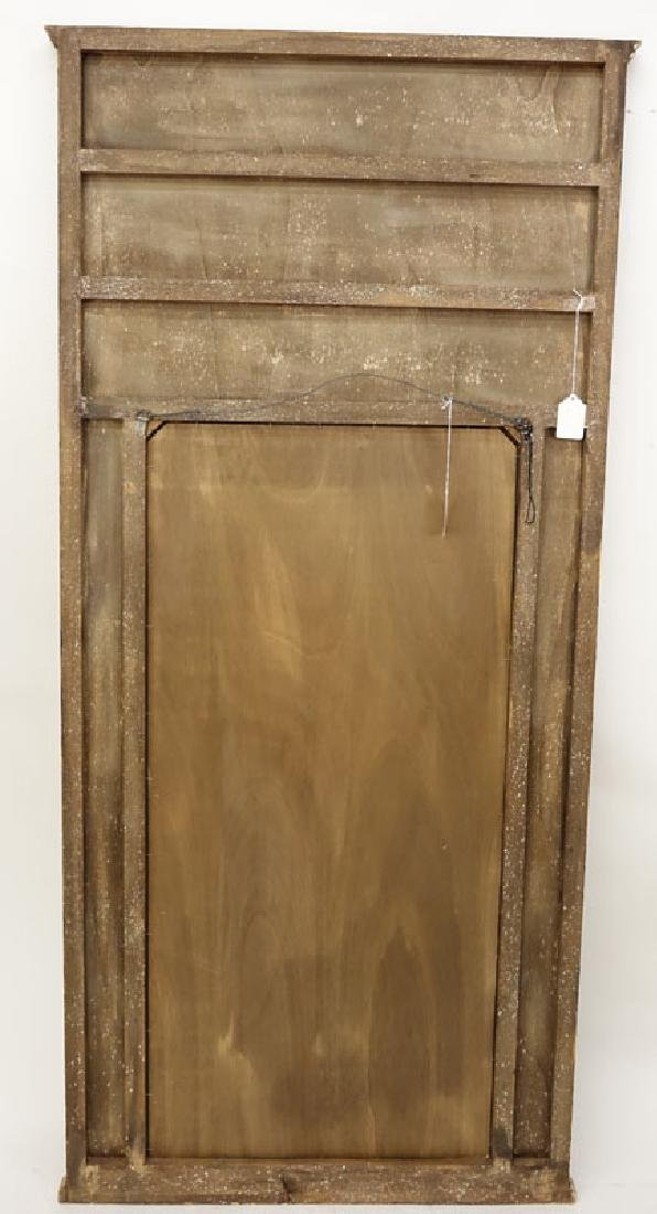 Large Italian Gilt and Painted Carved Wood Mirror. - 2