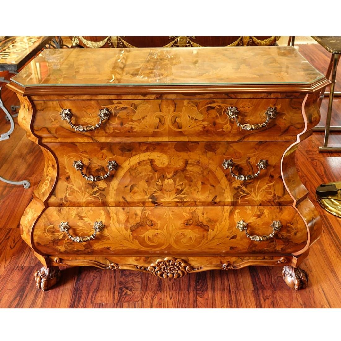 Modern Dutch Style Marquetry Inlaid Chest of Drawers. - 2