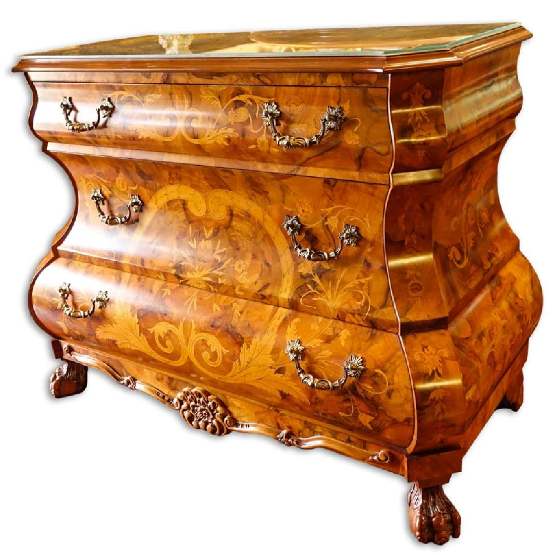 Modern Dutch Style Marquetry Inlaid Chest of Drawers. - 3