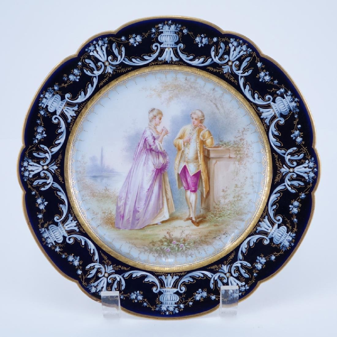 19/20th Century Sevres Portrait Plate. Painted with a
