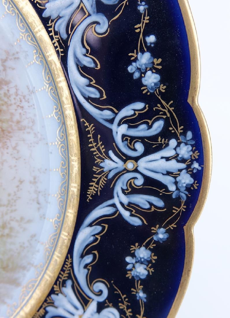19/20th Century Sevres Portrait Plate. Painted with a - 3